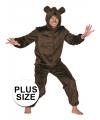 Grote maten kostuum bruine beer 58 (3XL) Bruin