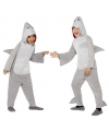 Haaien huispak voor kinderen 130-143 (7-9 jaar) Grijs