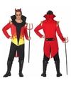 Halloween verkleedkleding duivel met vlammen M/L Multi