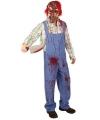 Halloween Zombie kostuum met bloedspetters 50 (M) Multi