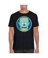Halloween zombie shirt zwart heren M Zwart