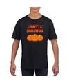 Happy Halloween t-shirt zwart voor jongens en meisjes S (122-128) Zwart
