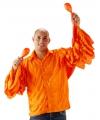 Heren rouche shirt oranje M/L Oranje