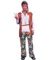 Hippie kostuum carnaval heren One size Multi