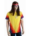 Hippie Sixties t-shirt rainbow M Multi
