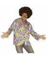 Hippie jaren 60 kostuum overhemd paars voor heren