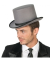 Hoge grijze hoed