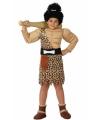Holbewoner kostuum voor jongens 116 (5-6 jaar) Bruin