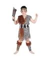 Holbewoner kostuum voor kinderen 130-140 (10-12 jaar) Bruin