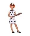 Holbewoonster Wilma kostuum voor meisjes wit/zwart 128 (7-9 jaar) Multi