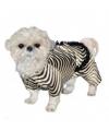 Honden zebra pakje One size Multi