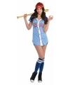 Honkbal kostuum voor dames M Multi