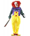 Horror clown verkleedkleding 52-54 (L) Multi