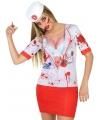 Horror zuster shirt verkleedoutfit M/L (38-40) Multi