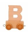 Houten letter treintje B