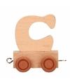 Houten letter treintje C