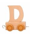 Houten letter treintje D