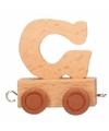 Houten letter treintje G