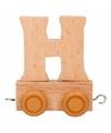 Houten letter treintje H