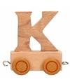 Houten letter treintje K