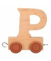 Houten letter treintje P