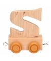 Houten letter treintje S