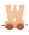 Houten letter treintje W