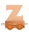 Houten letter treintje Z