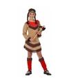 Indianen verkleedjurk Chinouk voor meisjes rood 116 (5-6 jaar) Multi