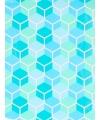 Verjaardagscadeau inpakpapier blauwe honingraat 70 x 200 cm