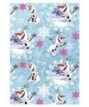 Inpakpapier Frozen Olaf blauw