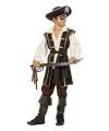Jack piraat kostuum bruin voor jongens 140 Multi