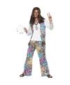 Jaren 60 hippie verkleedkleding voor heren 48-50 (M) Multi