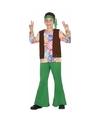 Jaren 60 hippie verkleedoutfit voor jongens 116 (5-6 jaar) Multi