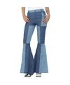 Jaren 60 Sixties verkleed broek blauw voor dames 40-42 (M) Blauw