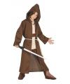 Jedi meester look-a-like carnaval / halloween kostuum voor kids 10-12 jaar (140-152) Bruin