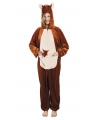 Kangoeroe onesie dierenpak 180 cm One size Bruin