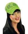 Baseball cap neon groen voor dames