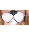 Witte kattenneus masker