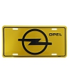 Geel muurplaatje Opel