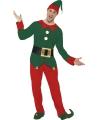 Kerstelf pak voor mannen 48-50 (M) Multi