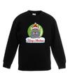 Kersttrui grijze kat / poes kerstbal zwart voor jongens en meisjes 14-15 jaar (170/176) Groen