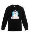 Kersttrui ijsbeer kerstbal zwart voor jongens en meisjes 9-11 jaar (134/146) Groen