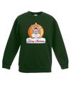 Kersttrui konijn kerstbal groen voor jongens en meisjes 12-13 jaar (152/164) Groen