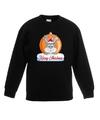 Kersttrui konijn kerstbal zwart voor jongens en meisjes 9-11 jaar (134/146) Zwart