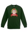 Kersttrui met pinguin groen voor jongens en meisjes 14-15 jaar (170/176) Groen