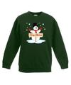 Kersttrui met sneeuwpop groen voor jongens en meisjes 14-15 jaar (170/176) Groen