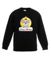 Kersttrui muis kerstbal zwart voor jongens en meisjes 12-13 jaar (152/164) Zwart