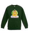 Kersttrui oranje kat / poes kerstbal groen voor jongens en meisjes 3-4 jaar (98/104) Groen