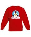 Kersttrui pinguin kerstbal rood voor jongens en meisjes 5-6 jaar (110/116) Rood